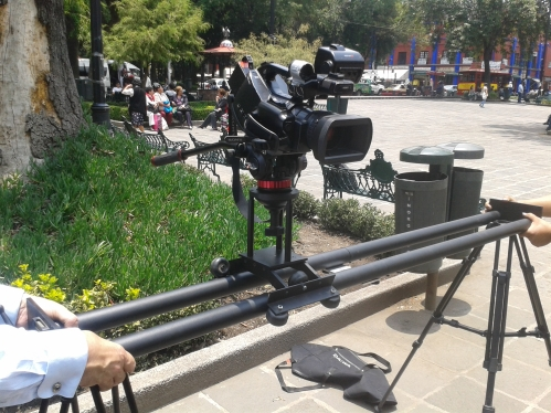 Dolly portratil y Camara Sony XDCAM Cinealta